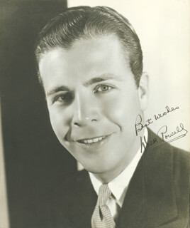 DICK POWELL - AUTOGRAPHED SIGNED PHOTOGRAPH