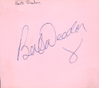 BERT WEEDON - INSCRIBED ALBUM LEAF SIGNED CO-SIGNED BY: THE DAKOTAS (RAY JONES), THE DAKOTAS (MIKE MAXFIELD), THE DAKOTAS (ROBIN F. MACDONALD), THE DAKOTAS (TONY MANSFIELD)