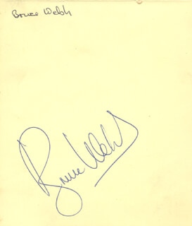 BRUCE WELCH - AUTOGRAPH CO-SIGNED BY: TOMMY QUICKLY