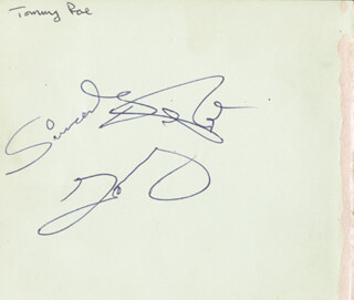 TOMMY ROE - AUTOGRAPH SENTIMENT SIGNED