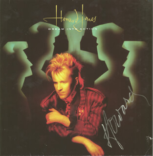 HOWARD JONES - RECORD ALBUM COVER SIGNED
