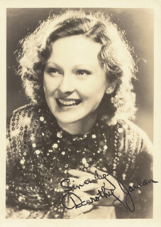 DOROTHY JORDAN - AUTOGRAPHED SIGNED PHOTOGRAPH