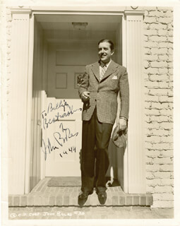 Autographs: JOHN BOLES - INSCRIBED PHOTOGRAPH SIGNED 1944
