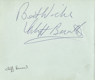 CLIFF BENNETT - AUTOGRAPH SENTIMENT SIGNED CO-SIGNED BY: THE VISCOUNTS
