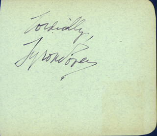 TYRONE POWER - AUTOGRAPH SENTIMENT SIGNED