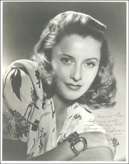 BARBARA STANWYCK - AUTOGRAPHED INSCRIBED PHOTOGRAPH