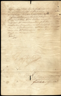 EMPEROR FRANCIS I - DOCUMENT SIGNED 1759