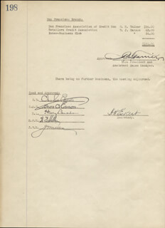 THOMAS A. EDISON - CORPORATE MINUTES SIGNED 01/27/1926 CO-SIGNED BY: GOVERNOR CHARLES EDISON, HARRY F. MILLER, JOHN V. MILLER, HENRY LANAHAN, HOWARD H. ECKERT, A.M. FARRIER