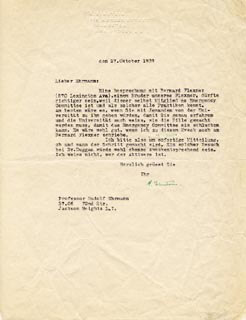 Autographs: ALBERT EINSTEIN - TYPED LETTER SIGNED 10/27/1939