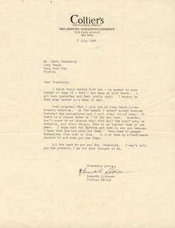 KENNETH LITTAUER - TYPED LETTER SIGNED 07/07/1937