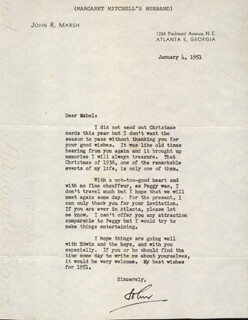 JOHN MARSH - TYPED LETTER SIGNED 01/04/1951