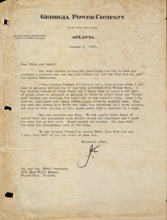 JOHN MARSH - TYPED LETTER SIGNED 01/05/1937