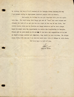 JOHN MARSH - TYPED LETTER SIGNED 06/09/1942
