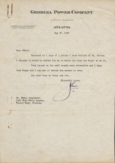 JOHN MARSH - TYPED LETTER SIGNED 05/27/1937