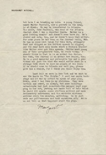 MARGARET MITCHELL - TYPED LETTER SIGNED 05/17/1943