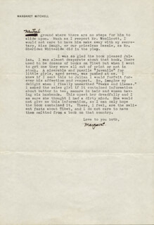 MARGARET MITCHELL - TYPED LETTER SIGNED 02/03/1941