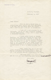 MARGARET MITCHELL - TYPED LETTER SIGNED 02/05/1937