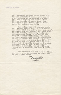 MARGARET MITCHELL - TYPED LETTER SIGNED 10/20/1937