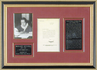 MARGARET MITCHELL - TYPED LETTER SIGNED 05/04/1937