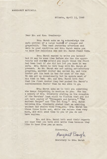 MARGARET E. BAUGH - TYPED LETTER SIGNED 04/12/1946