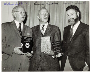 WILLIAM L. SHIRER - AUTOGRAPHED SIGNED PHOTOGRAPH CO-SIGNED BY: CONRAD RICHTER, RANDALL JARRELL