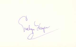 EVELYN KEYES - AUTOGRAPH