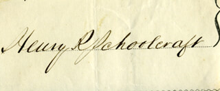HENRY ROWE SCHOOLCRAFT - AUTOGRAPH