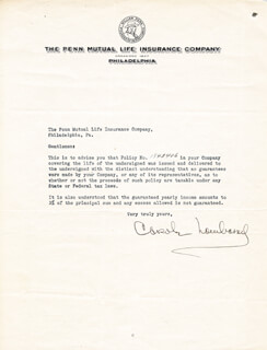 CAROLE LOMBARD - DOCUMENT SIGNED