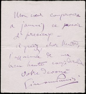 GIACOMO PUCCINI - AUTOGRAPH LETTER SIGNED 06/14/1898