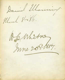 DANIEL MANNING - AUTOGRAPH 03/08/1886 CO-SIGNED BY: WILLIAM COLLINS WHITNEY