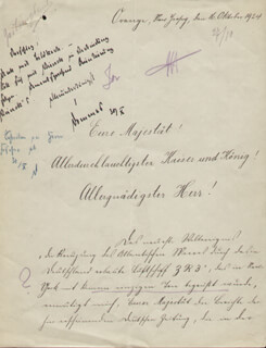 Autographs: EMPEROR WILLIAM II - DOCUMENT SIGNED 1924