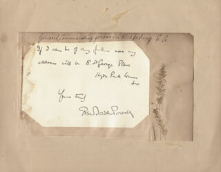 Autographs: ROBERT BADEN-POWELL - AUTOGRAPH NOTE SIGNED