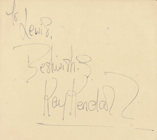 KAY KENDALL - AUTOGRAPH NOTE SIGNED