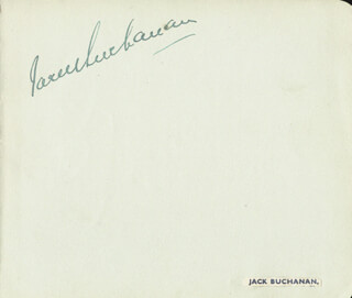 JACK BUCHANAN - AUTOGRAPH CO-SIGNED BY: PHYLLIS DARE