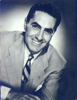 TYRONE POWER - AUTOGRAPHED SIGNED PHOTOGRAPH