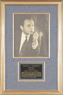 EDWARD G. ROBINSON - AUTOGRAPHED SIGNED PHOTOGRAPH