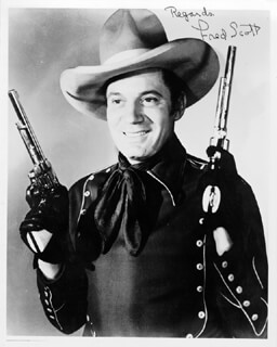 FRED L. THE SINGING BUCKAROO SCOTT - AUTOGRAPHED SIGNED PHOTOGRAPH