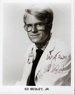 ED BEGLEY JR. - AUTOGRAPHED SIGNED PHOTOGRAPH