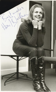 HONOR BLACKMAN - AUTOGRAPHED SIGNED PHOTOGRAPH