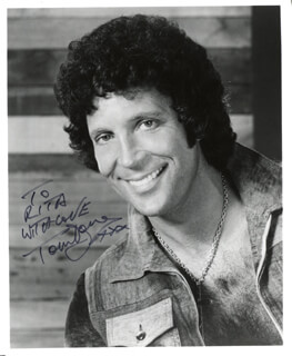 TOM JONES - AUTOGRAPHED INSCRIBED PHOTOGRAPH