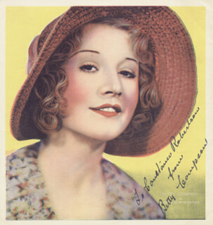 BETTY COMPSON - AUTOGRAPHED INSCRIBED PHOTOGRAPH