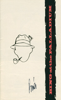 BING CROSBY - PROGRAM SIGNED