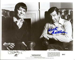 HOPSCOTCH MOVIE CAST - AUTOGRAPHED SIGNED PHOTOGRAPH CO-SIGNED BY: WALTER MATTHAU, GLENDA JACKSON