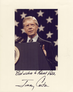 PRESIDENT JAMES E. JIMMY CARTER - AUTOGRAPHED INSCRIBED PHOTOGRAPH