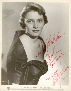 PATRICIA NEAL - INSCRIBED PRINTED PHOTOGRAPH SIGNED IN INK