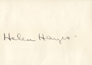 HELEN HAYES - AUTOGRAPH