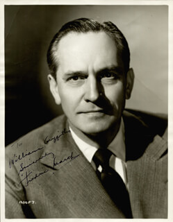Fredric March Autographs 56020