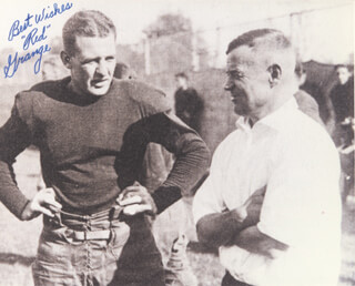 RED GRANGE - AUTOGRAPHED SIGNED PHOTOGRAPH