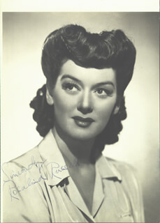 ROSALIND RUSSELL - AUTOGRAPHED SIGNED PHOTOGRAPH