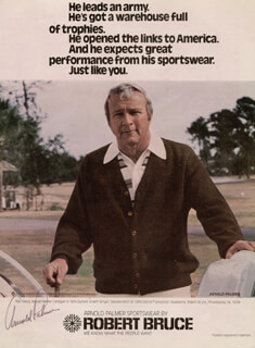 ARNOLD PALMER - MAGAZINE ADVERTISEMENT SIGNED